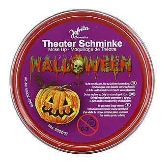Maquillage de théâtre Halloween rouge