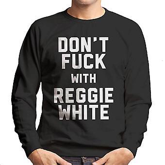 レジーホワイトメンズスウェットシャツとファックしません