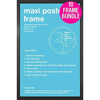 GB julisteita 10 musta Maxi juliste kehyksiä 61x91.5cm nippu