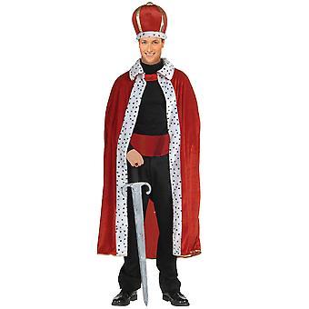 King rood gewaad kroon Renaissance middeleeuwse Koninklijke Fairytale boek Week Mens kostuum