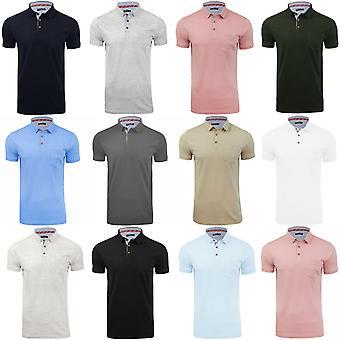 Brave Soul Mens Julius Casual Chest Pocket Short Sleeve Cotton Polo Shirt Top