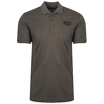Antony Morato Khaki Patch Logo Polo Shirt