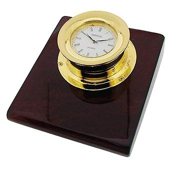 Gift Time Products Capstan Base with Clock - Gold/Brown