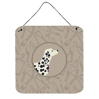Dalmatian In the Kitchen Wall or Door Hanging Prints