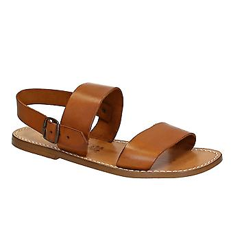 Hand made in Italy mens sandals in vintage cuir leather