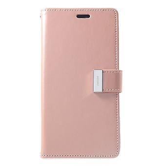 Mercury GOOSPERY Rich Diary for iPhone XS Max-RoseGold