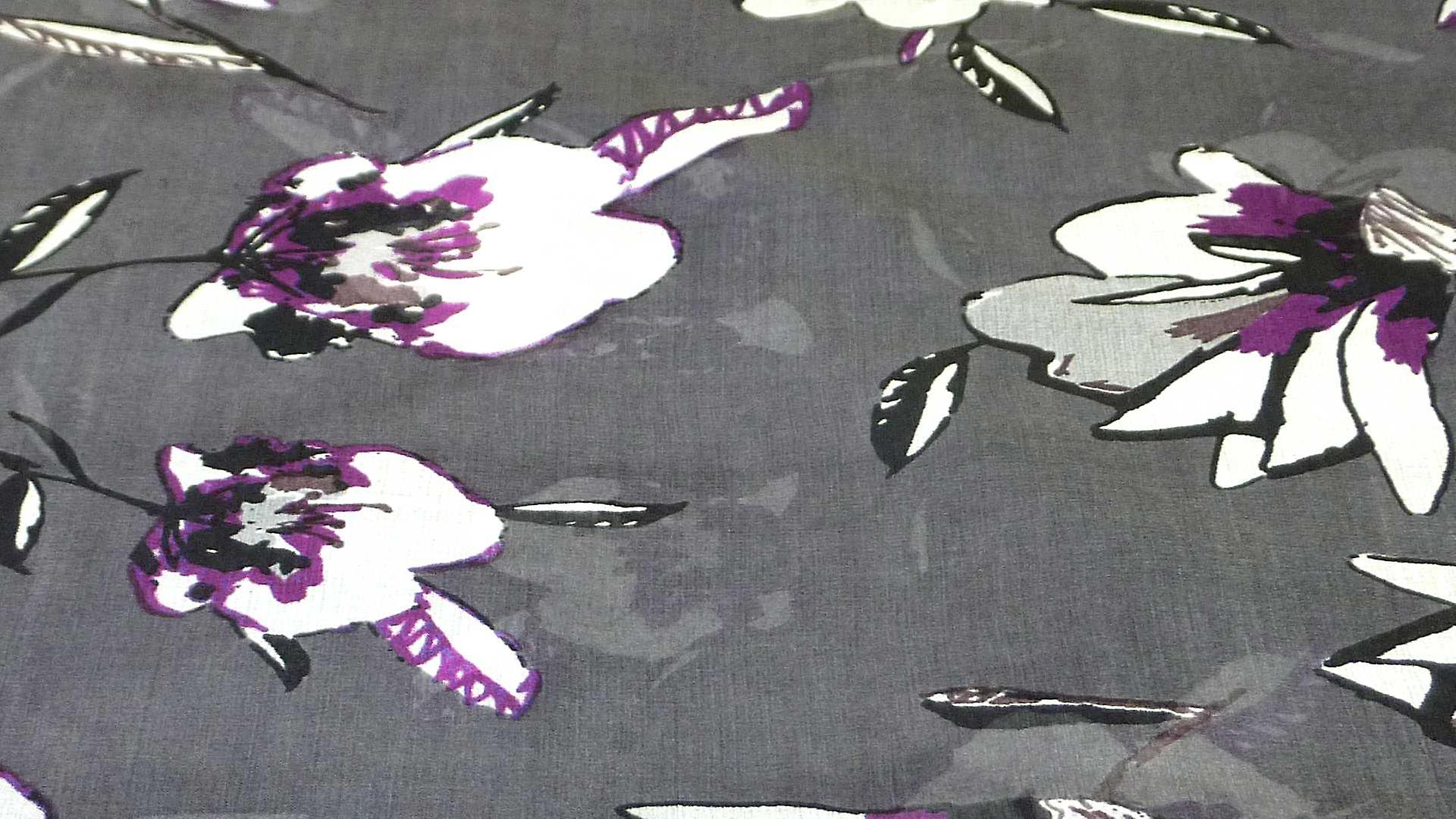 Mulberry Silk Contemporary Square Scarf Roha Charcoal by Pashmina & Silk