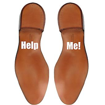 Pack of 2 Help Me Shoe Stickers
