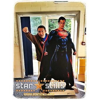 Man Of Steel Superman (Henry Cavill) grandeur nature en carton Découpe / Standee