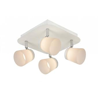 Lucide Heloïse-LED Modern Round Metal White And Opal Ceiling Spot Light
