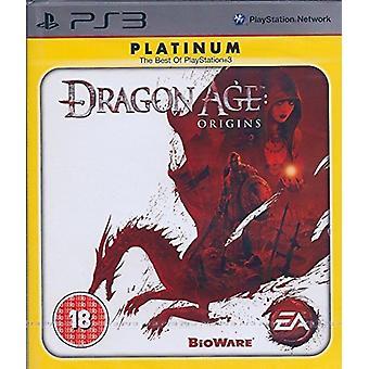 Dragon Age Origins spil (Platinum) PS3-ny