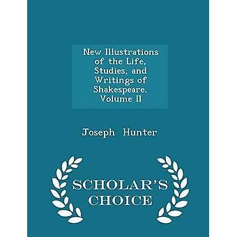 الرسوم الجديدة لدراسات الحياة وكتابات شكسبير المجلد الثاني العلماء الطبعة اختيار طريق هنتر & جوزيف