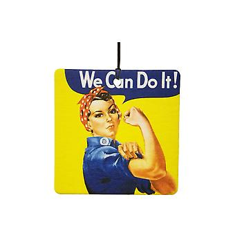 Rosie Riveter możemy to zrobić samochodowa zawieszka zapachowa
