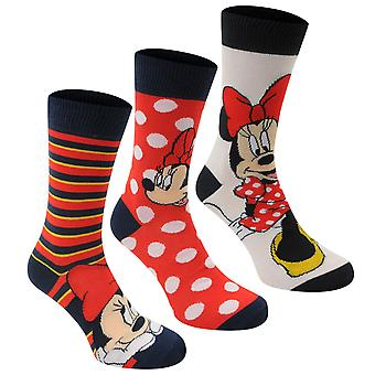 Disney naisten 3 Pack Crew sukat