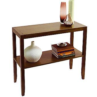 Kdekoli-pevná dřevěná konzola/boční/Halová tabulka-efekt vlašského ořechu