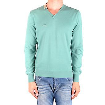Etiqueta Negra Ezbc183001 Men's Green Cotton Sweater