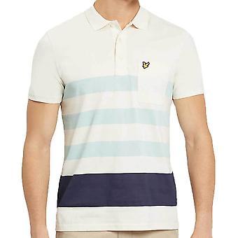 Lyle og Scott Wide stribe Polo Shirt Seashell hvid