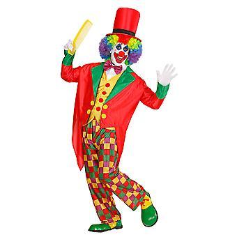 Clown kostuum (Slipjas vest Bow tie Pants Hat)