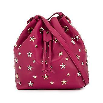 Jimmy Choo Junoltrraspberrysilvergoldmetallicmi Women's Fuchsia Leather Shoulder Bag