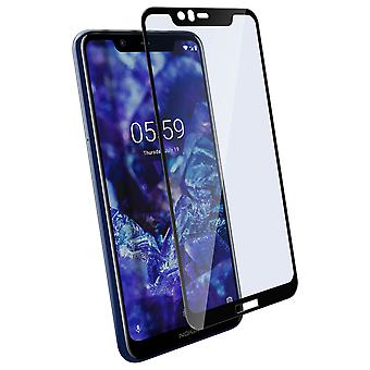Nokia 5.1 Plus Screen Protector Tempered Glass Bevelled Contours Black