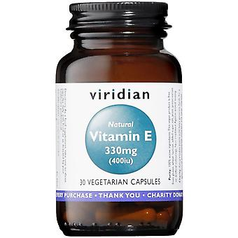 Viridian Natural Vitamin E 400IU Veg Caps 30 (295)