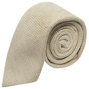 Gouden & crème Herringbone Tie