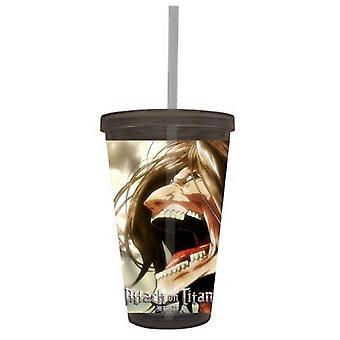 Plastic Travel Mug - Attack on Titian - Eren Scream Cup New cc-aot-scream