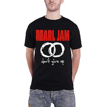 Pearl Jam T Shirt Dont Give Up Circles Band Logo Official Mens New Black