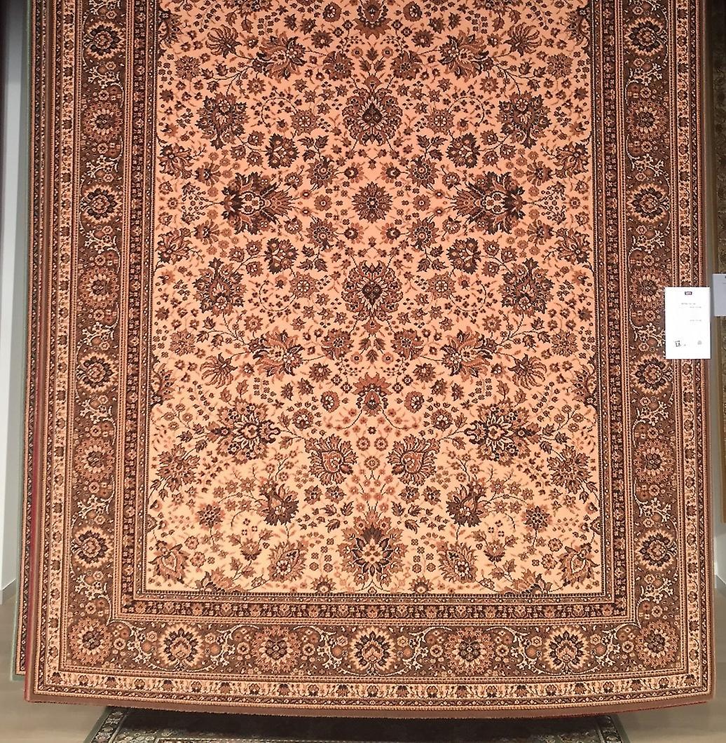 Royal Beige 1561-504 Licht beige grond met beige en bruine rechthoek Tapijten traditionele tapijten