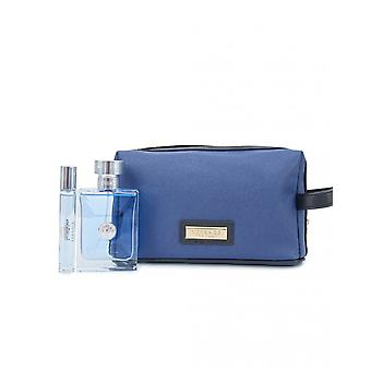 Versace Pour Homme lahja setti 100ml EDT + 10ml EDT + kosmetiikka laukku