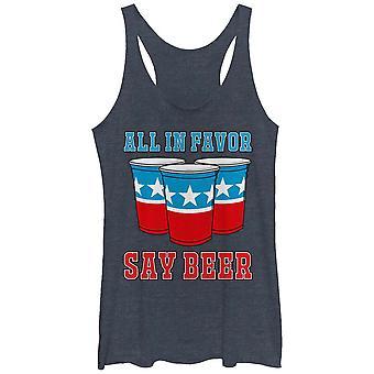 All In Favor Say Beer Women's Tank Top