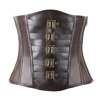Corsetti per donne Bustier Top come Underbust Waist Trainer Leather Design per...