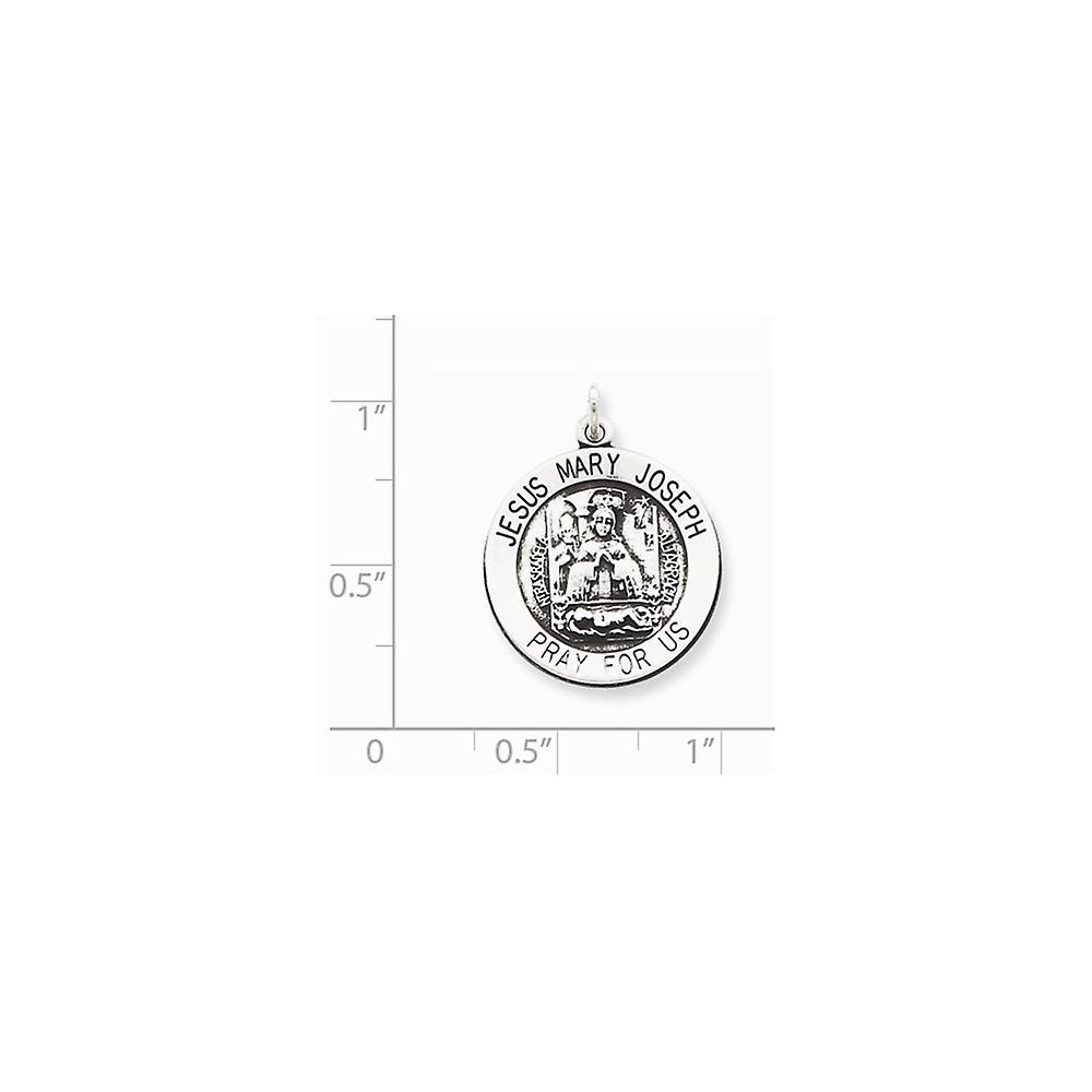 925 Sterling Silver Solid Satin Back Engravable finish Divino Nino Pendant Necklace (Divine Infant Religious Faith Inspi