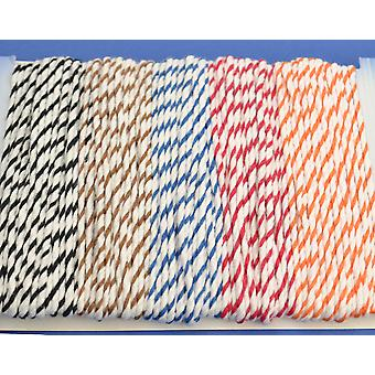 20m Classic Assorted Bakers Twine String | Twine Cord & Elastic for Crafts