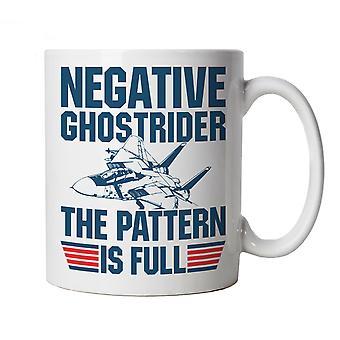 Negative Ghost Rider Top Gun Film inspiriert Tasse Geschenk für ihn Papa Ihre Mama