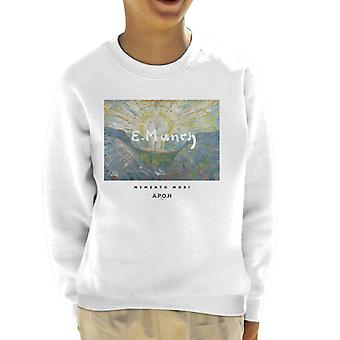 A. P. O. H Munch Momento Mori kid ' s sweatshirt