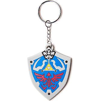 Nintendo Keyring Keychain Hyrulian Crest Official New Rubber