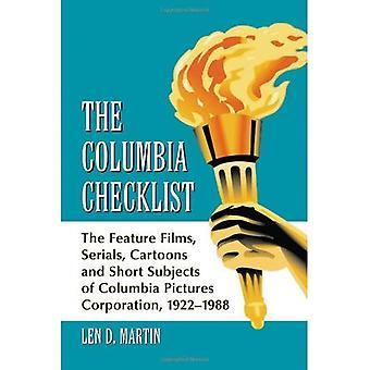O Checklist de Columbia: Os longas-metragens, seriados, desenhos animados e temas curto da Columbia Pictures Corporation, 1922-1988