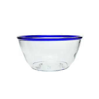 Bergdalshyttan-Blue RIM-Salladskål large round Design