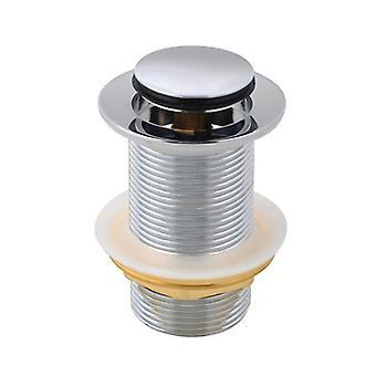 Chrome 32mm Solid Brass Basin Pop Up Déchets sans débordement
