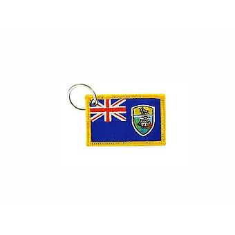 Cle Cles Key Brode Patch Ecusson Badge St. Helena Flag Badge
