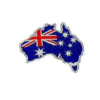 Patch Ecusson Brode Drapeau Backpack Australie Carte Australien Thermocollant
