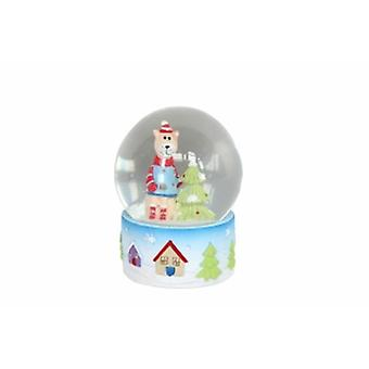 Gisela Graham Winter Lodge Cat Snow Globe
