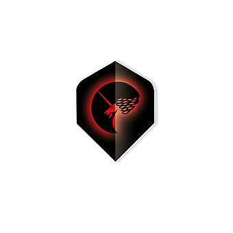 Unicorn Darts Core.75 Micron Plus Flights Metallic Polyflight Range - Red