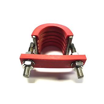 U-strap T316 (a4) Marine Grade Stainless Steel With Flame Retardant Rubber For 40 Nb (48 Mm Outside Diameter) Pipe