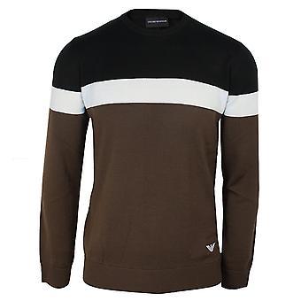 Emporio armani men's schwarz weiß und braun Pullover