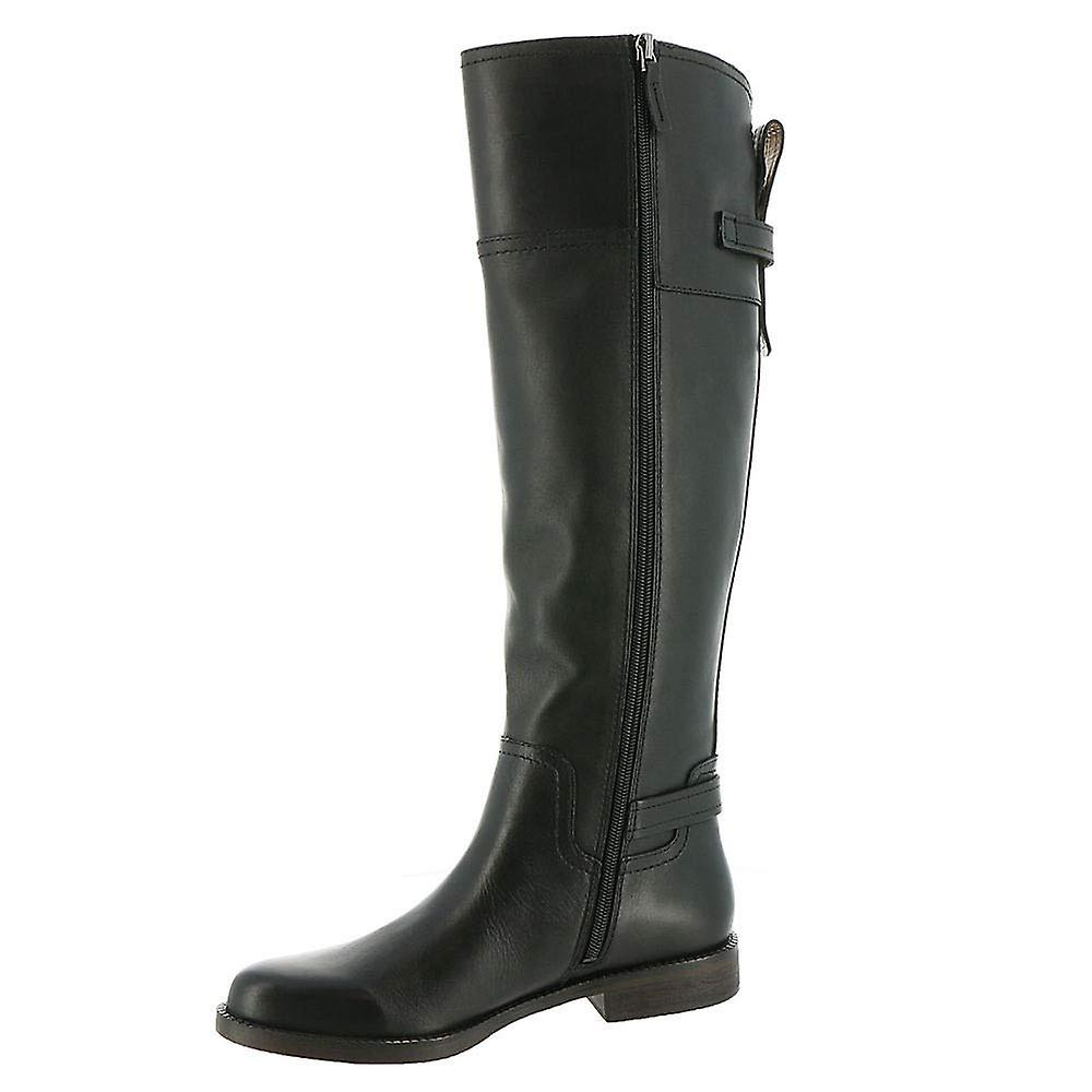 Franco Sarto Womens Capitol Leather Closed Toe Knee High Riding Boots