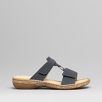 Rieker 62885-14 Damen Mule Sandalen Pazifik