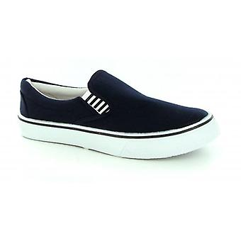 Shuperb Yachting Ladies Canvas Deck Shoes Navy