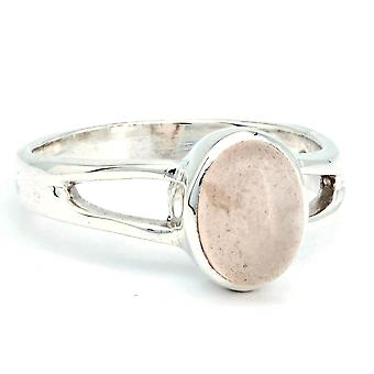 Rose Quartz Ring 925 Silver Sterling Silver Silver Women's Ring Pink (IRM 180-07)